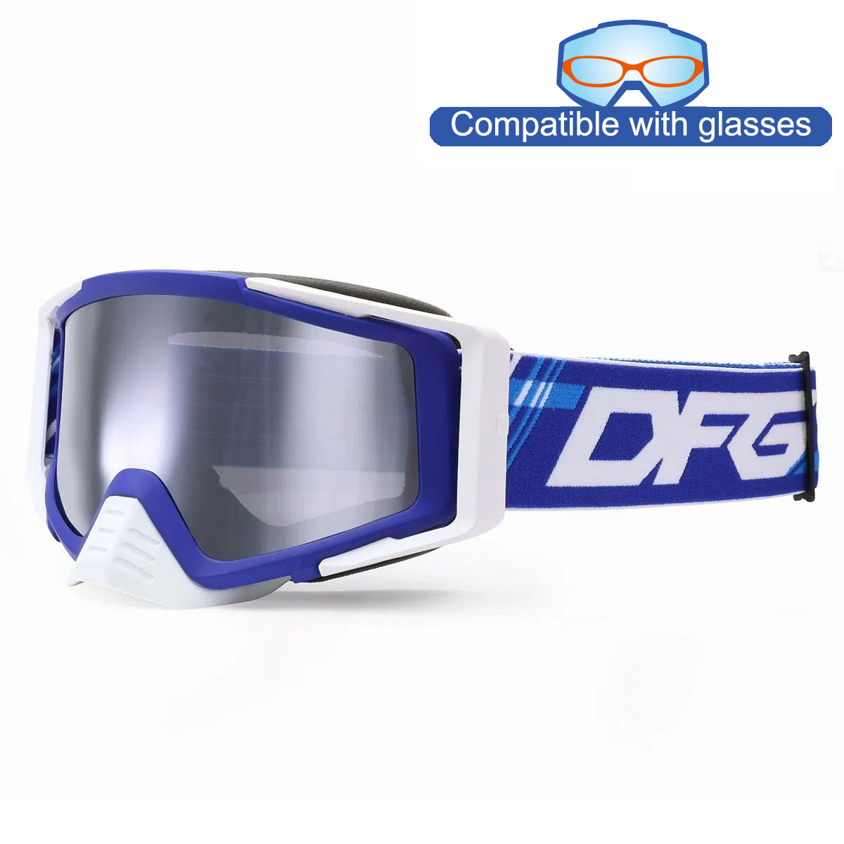 THROTTLE GOGGLE 2.0_Matte Blue / White